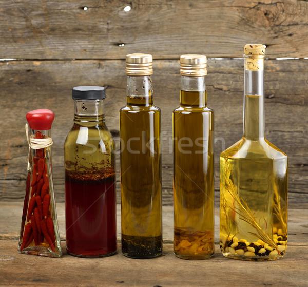 étolaj válogatás fából készült fa üveg üveg Stock fotó © saddako2