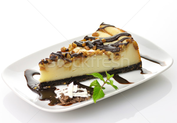 Stock photo: cheesecake with chocolate