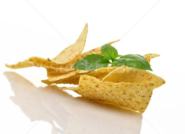Mais tortilla chips witte achtergrond Stockfoto © saddako2