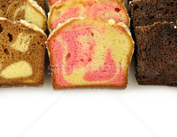 буханка торт Ломтики удвоится шоколадом Сток-фото © saddako2