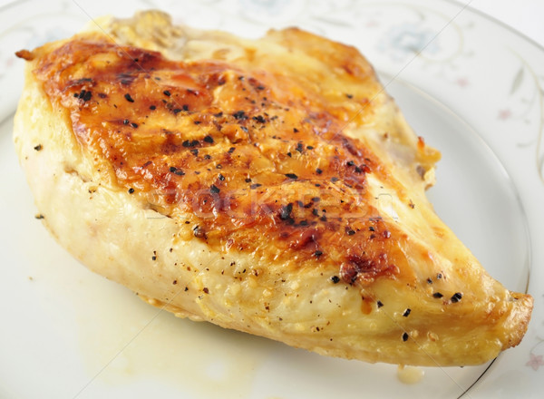 Pollo a la parrilla mama placa alimentos pollo Foto stock © saddako2