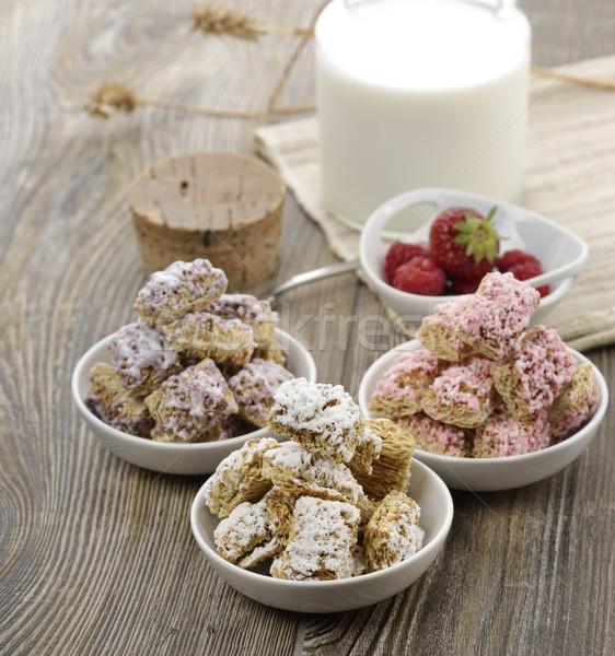 Assortment Of Shredded Wheat Cereal Stock photo © saddako2