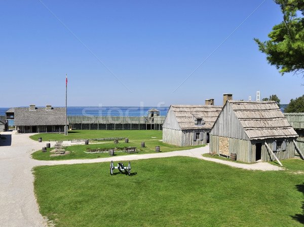 Stock photo: Colonial Fort Michilimackinac