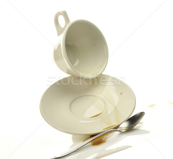 Cup and saucer with spilled coffee  Stock photo © saddako2