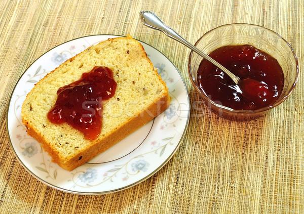 хлеб желе домашний клубника Top мнение Сток-фото © saddako2