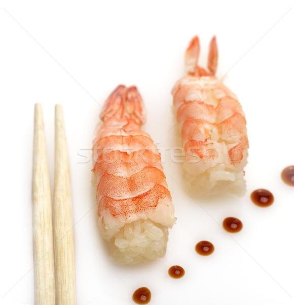 Sushis up blanche poissons riz fraîches Photo stock © saddako2