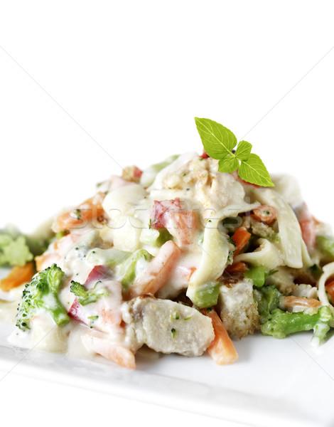 Pollo bianco piatto pasta erbe pasto Foto d'archivio © saddako2