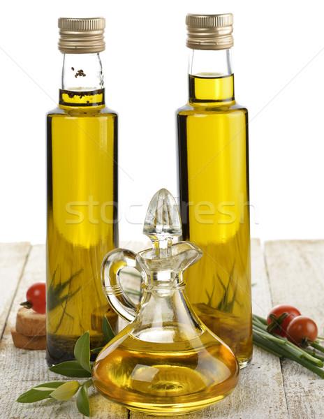 étolaj válogatás fűszer étel levél üveg Stock fotó © saddako2