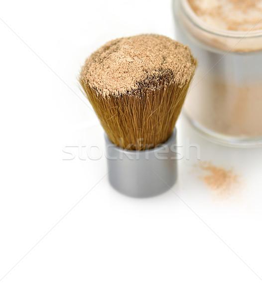 Makeup powder and brush  Stock photo © saddako2