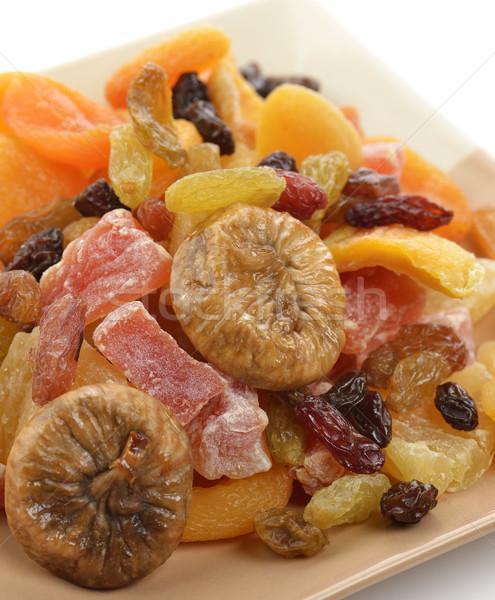 Secas tropical frutas prato vermelho Foto stock © saddako2