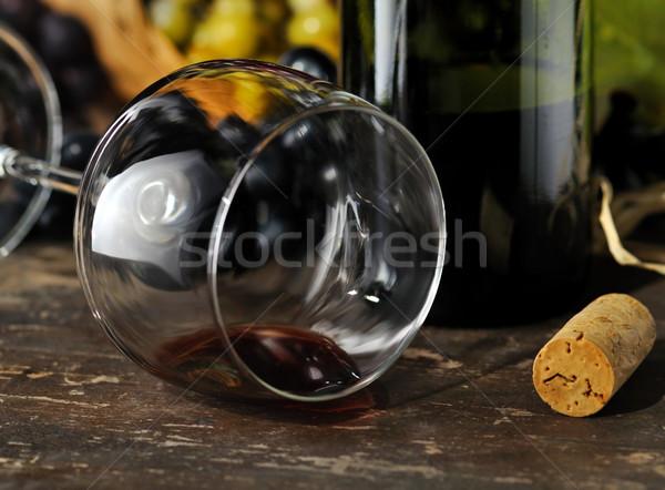 Spilled red wine.  Stock photo © saddako2