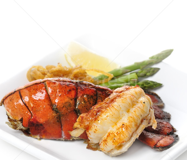 Grilled Lobster Tail Stock photo © saddako2