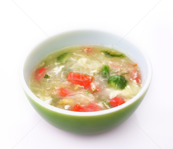 Zöldség krém leves közelkép forró sárgarépa Stock fotó © saddako2