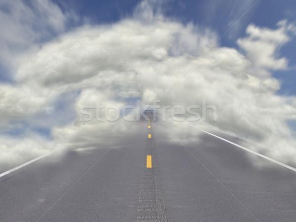 road through sky Stock photo © saddako2