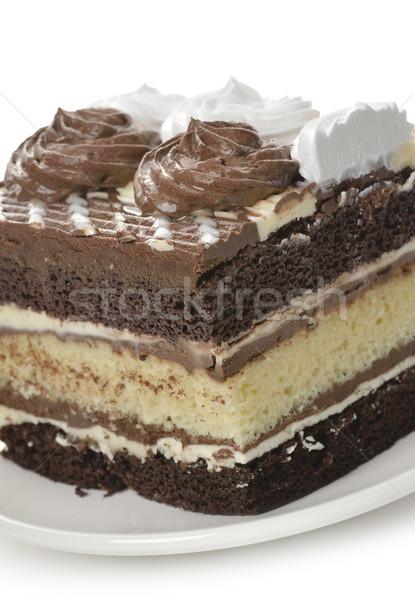 Cioccolato strato torta fresche crema Foto d'archivio © saddako2