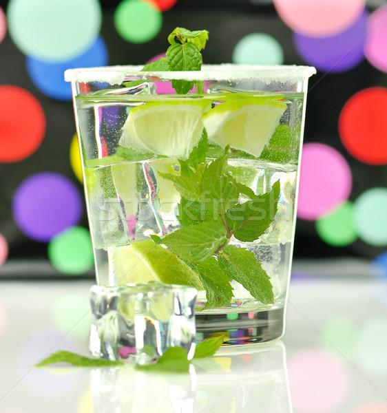 Bebida fría cal menta verano verde fresco Foto stock © saddako2