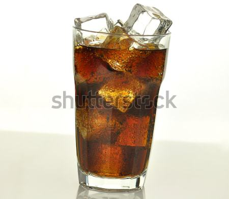cola with ice cubes  Stock photo © saddako2