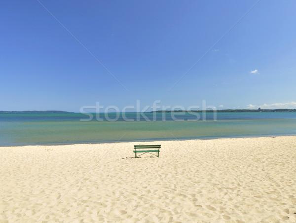 Göl Michigan plaj bank yalnız su Stok fotoğraf © saddako2