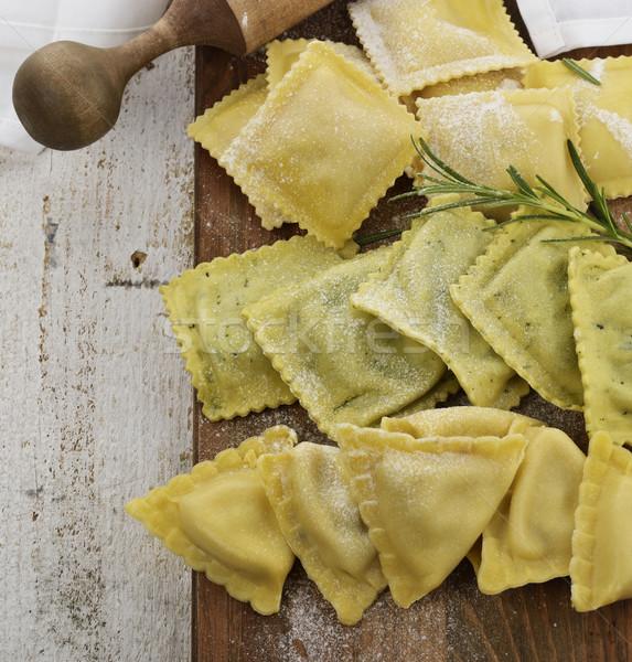 Caseiro ravioli fresco Foto stock © saddako2