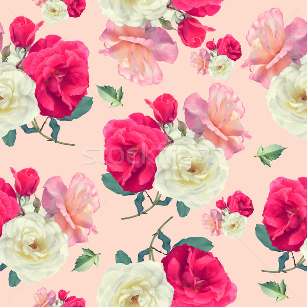 seamless   pattern of rose flowers Stock photo © saddako2