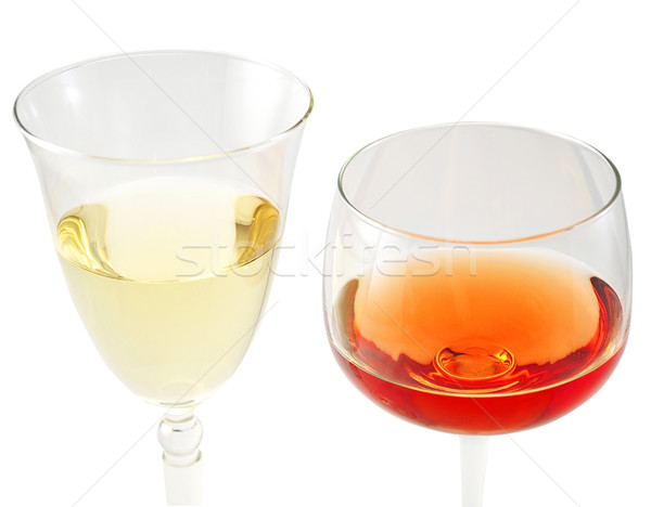 Stockfoto: Rood · witte · wijn · bril · witte · gezondheid · achtergrond