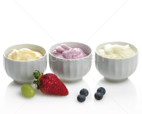 Сток-фото: плодов · свежие · винограда · десерта · белом · фоне · органический