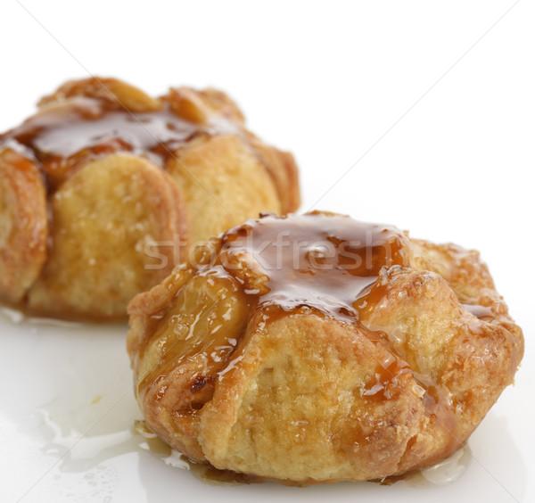 Karamel appel gebak voedsel cake Stockfoto © saddako2
