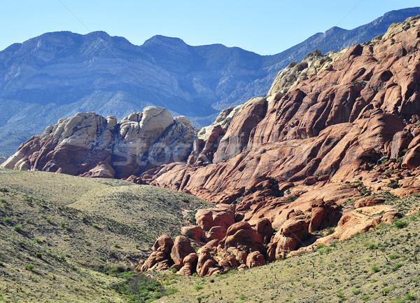 Piros kő kanyon Nevada USA égbolt Stock fotó © saddako2