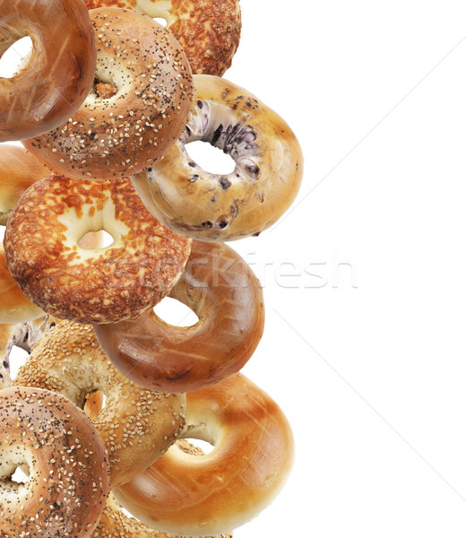 Bagels Isolated On White Background Stock photo © saddako2