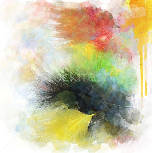 Abstrato aquarela digital pintura verde Foto stock © saddako2