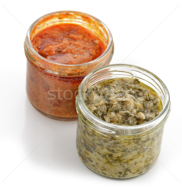 Artichoke And Red Pepper Spreads Stock photo © saddako2