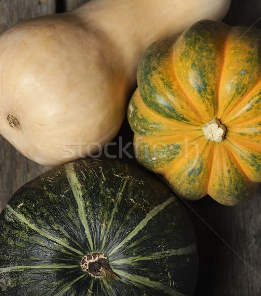 Squash ensemble alimentaire vert légumes bois Photo stock © saddako2