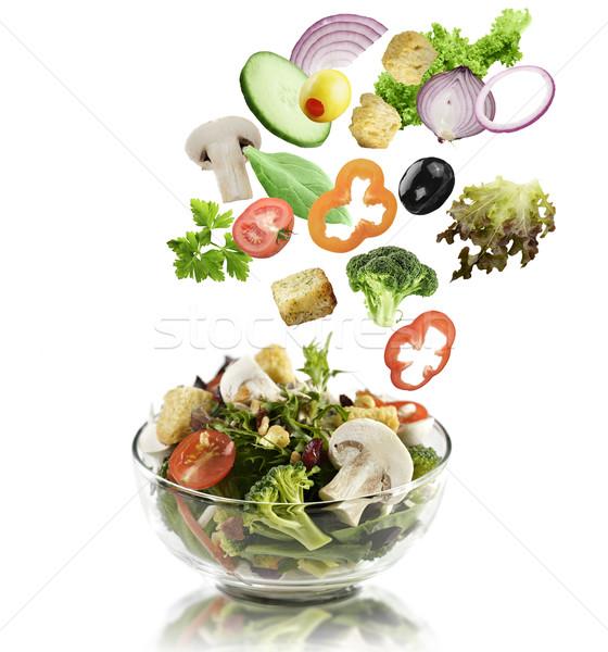 Vegetables Falling Into A  Salad Bowl Stock photo © saddako2