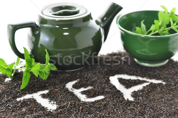 Suelto té médicos salud verde Foto stock © saddako2