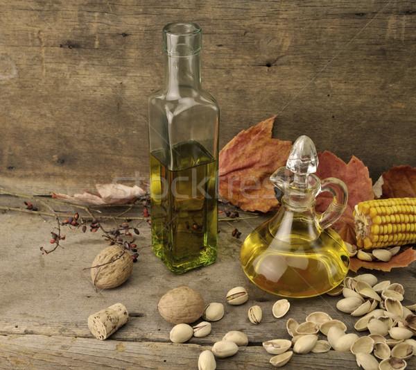 étolaj ősz étel levél üveg üveg Stock fotó © saddako2