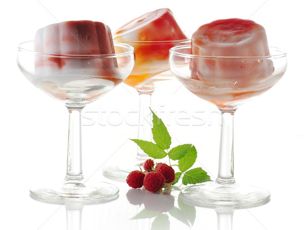 Sorbet fruits verre glace rouge Photo stock © saddako2