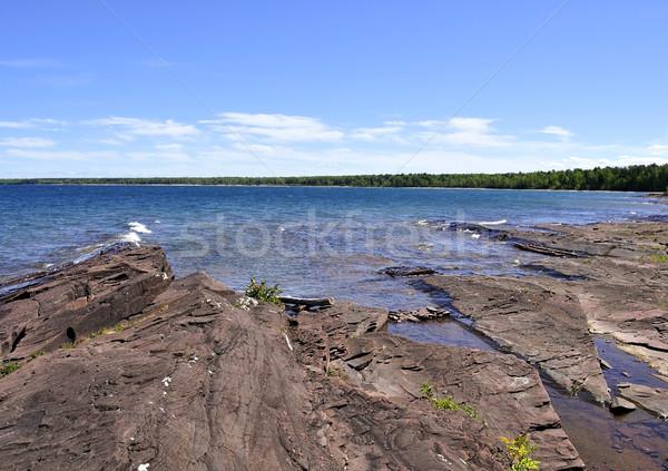 Shore lago Michigan blu viaggio rock Foto d'archivio © saddako2