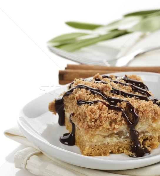 Apple Pie With Caramel Syrup Stock photo © saddako2