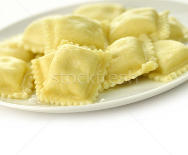 Ravioli pâtes parmesan alimentaire fromages blanche Photo stock © saddako2