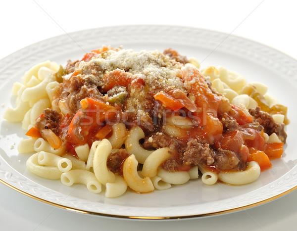 macaroni with sauce and vegetables  Stock photo © saddako2