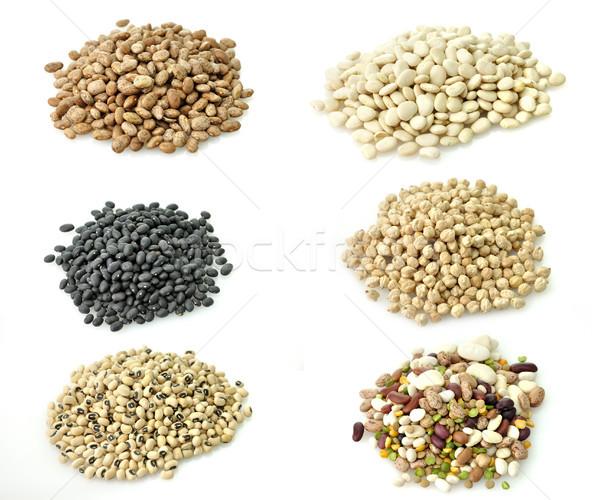Raw Beans Collection Stock photo © saddako2