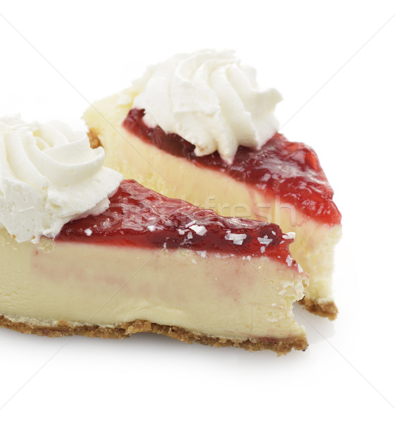 Cherry And Strawberry Cheesecake Stock photo © saddako2