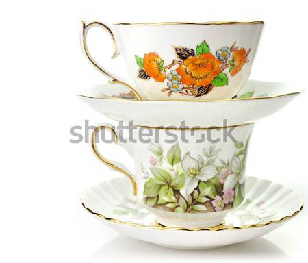 Vintage Coffee Or Tea Cups Stock photo © saddako2
