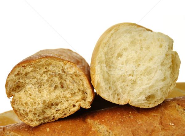 Biały ciemne bochenek chleba ziarna brązowy Zdjęcia stock © saddako2