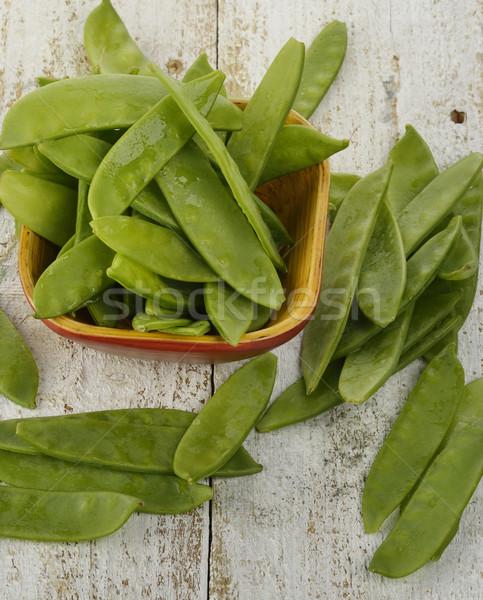 Ehető zöldborsó tál étel zöldség nyers Stock fotó © saddako2