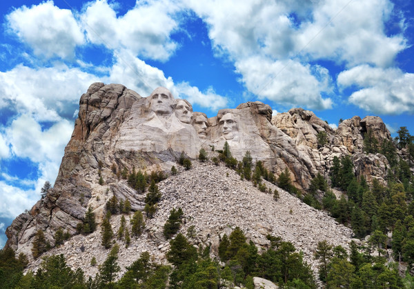 Mount Rushmore presidencial escultura South Dakota montanha homens Foto stock © saddako2