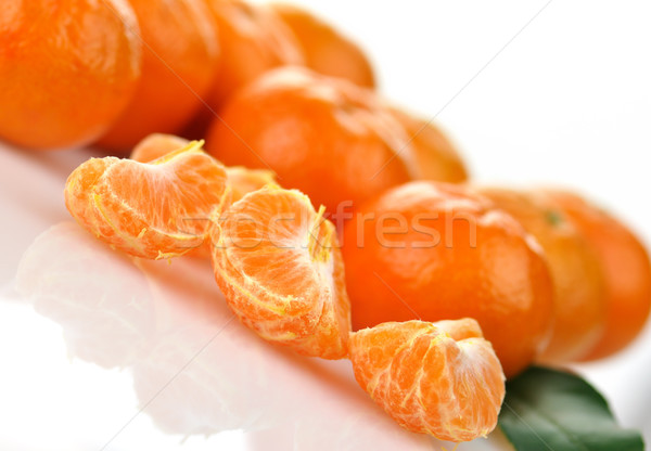 Mandarim frutas branco comida laranja Foto stock © saddako2