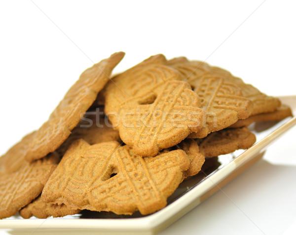 spiced cookies on a plate  Stock photo © saddako2