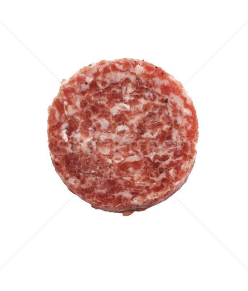 Raw Beef Burger Stock photo © saddako2