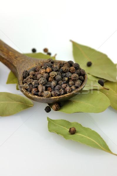 black pepper and bay leaves Stock photo © saddako2